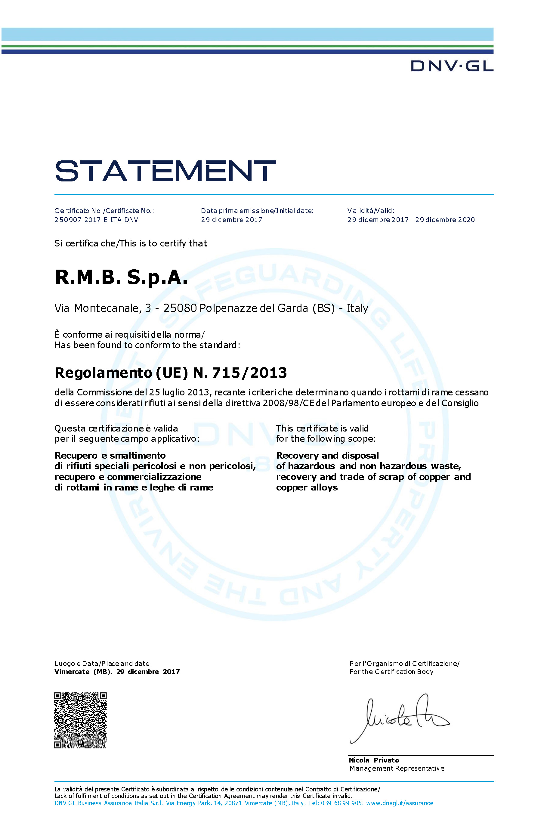 Environmental compatibility and safety certifications certificate dnv ue regulation 7152013 1betcityfo Image collections