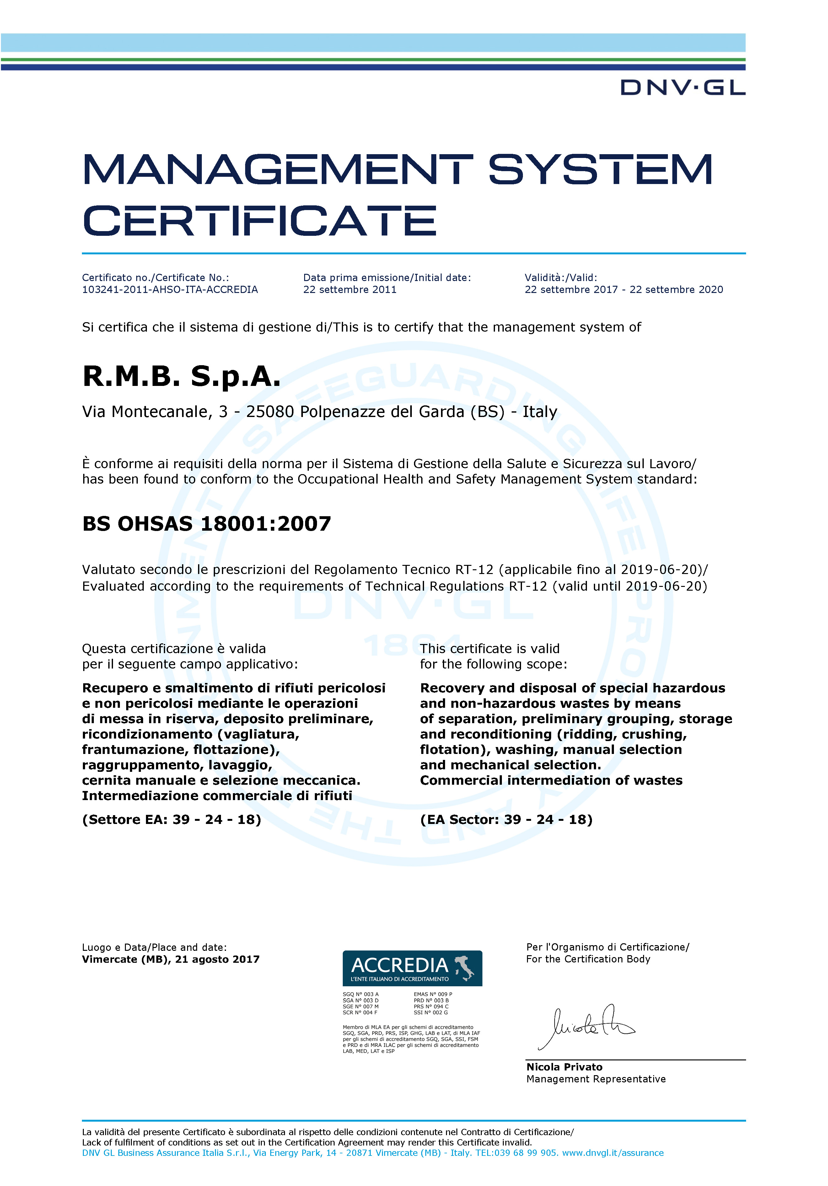 Environmental compatibility and safety certifications dnv uni en iso 180012007 certification soa certification 1betcityfo Image collections