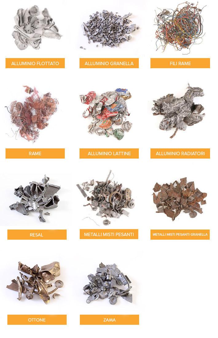 recupero rame, alluminio, metalli misti